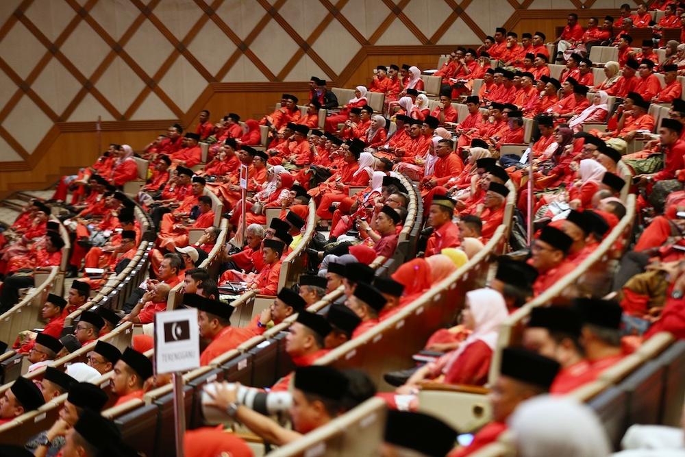 Parti Pribumi Bersatu Malaysia members are seen at the party's second annual grand meeting in Putrajaya December 30,2018. — Picture by Ahmad Zamzahuri