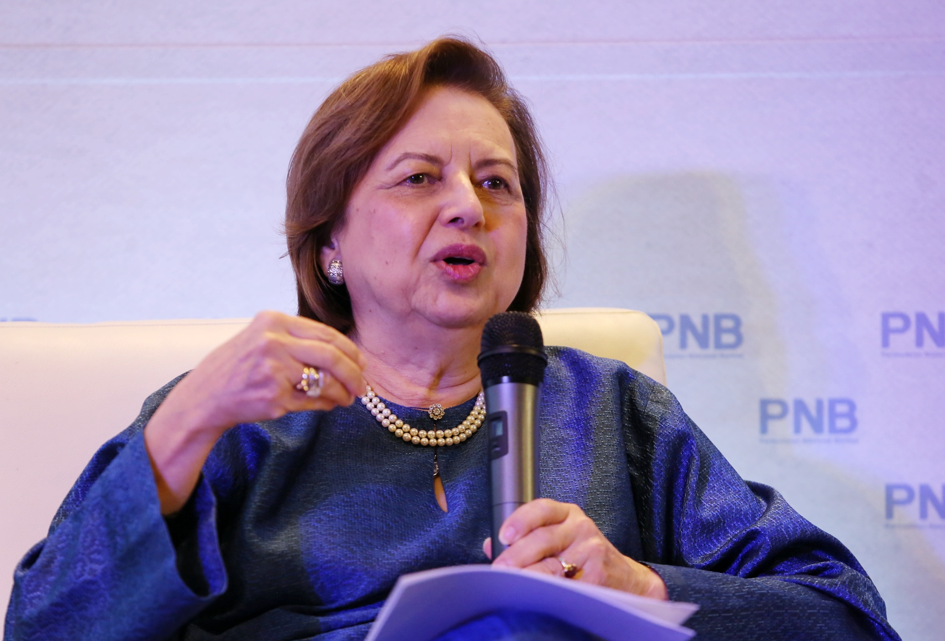 PNB Group Chairman, Tan Sri Dr Zeti Aziz speaks to the media at Menara PNB, December 21, 2018. — Picture by Choo Choy May