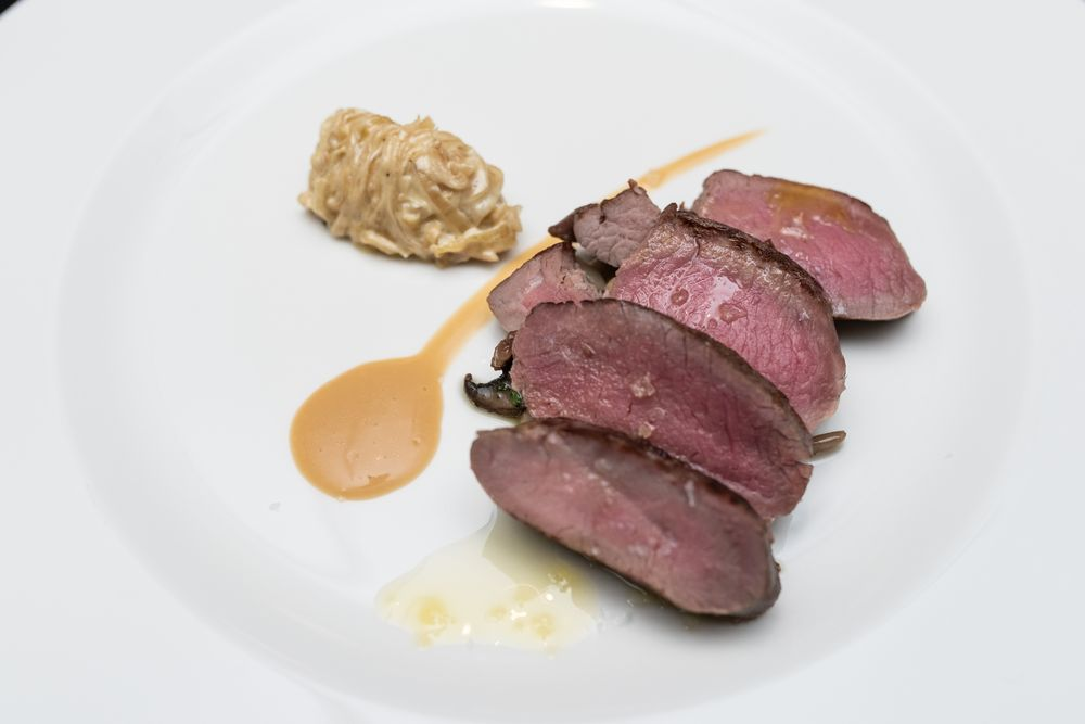 Smoked Loin of Lamb garnished with creamy onions and mixed wild mushrooms presented at the Italian Cuisine Week dinner. — Pix courtesy of Italian Trade Agency