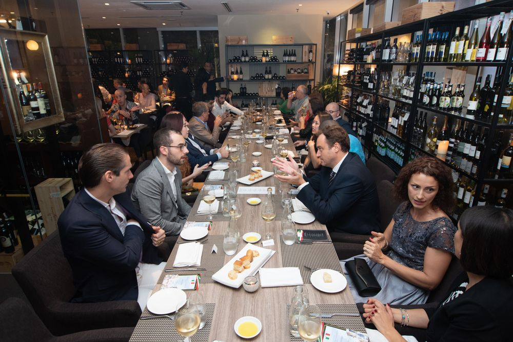 Trade partners and guests of Italian Trade Agency enjoy the delicacies at Cicchetti di Zenzero in Kuala Lumpur.
