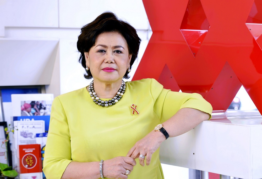 Former honorary treasurer of the Malaysian AIDS Foundation (MAF) Datuk Maznah Jalil. — Picture by Ham Abu Bakar