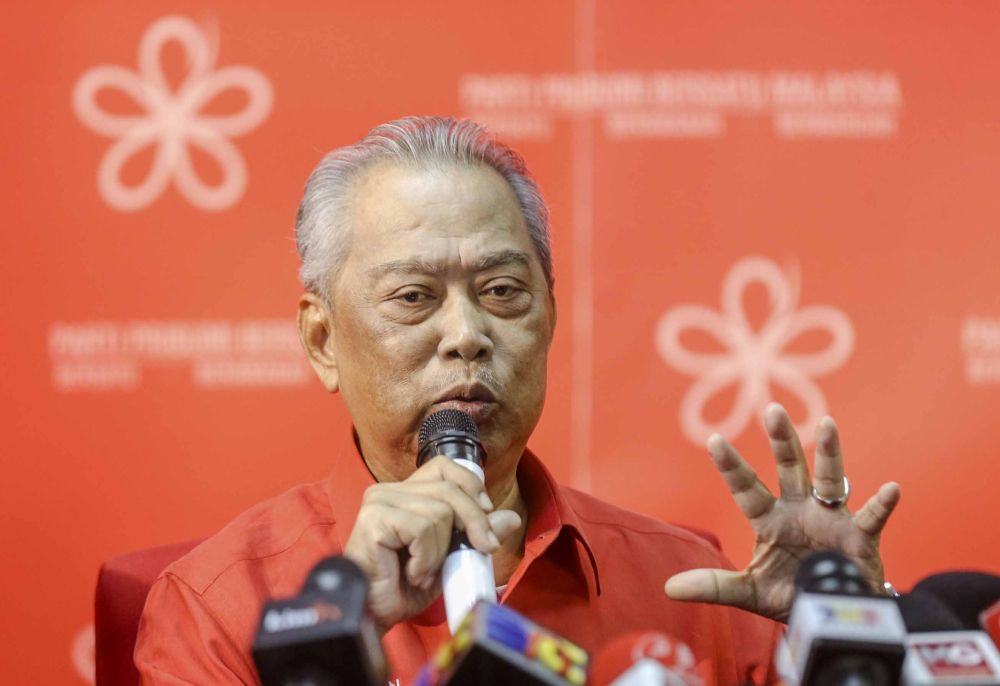 Muhyiddin said future leaders of PPBM will inherit a strong party foundation, which has been laid by Dr Mahathir, to guide them. ― Picture by Firdaus Latif