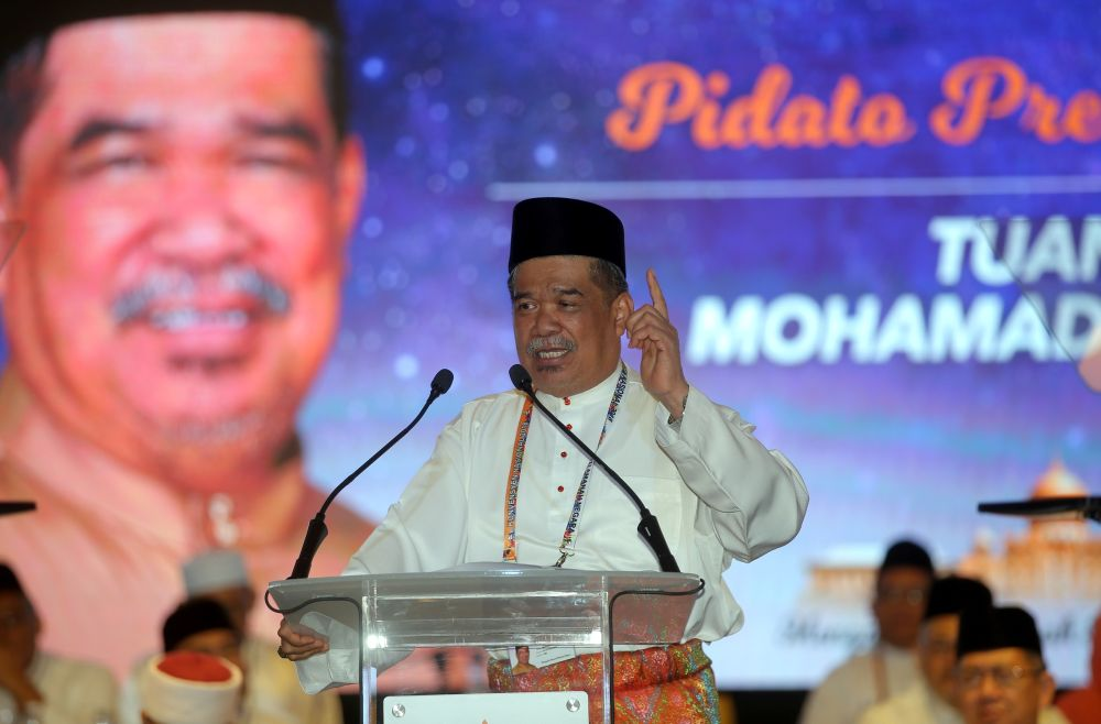Mohamad Sabu speaks during the Amanah National Convention in Ipoh December 14, 2018. ― Picture by Farhan Najib
