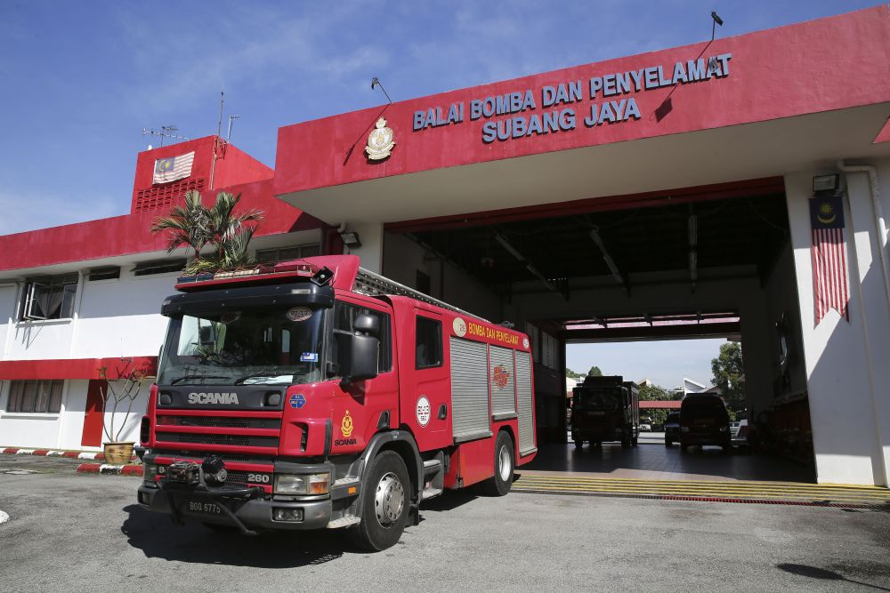 A general view of Subang Jaya Fire and Rescue Station in this file picture taken on December 18, 2018. ― Picture by Yusof Mat Isa