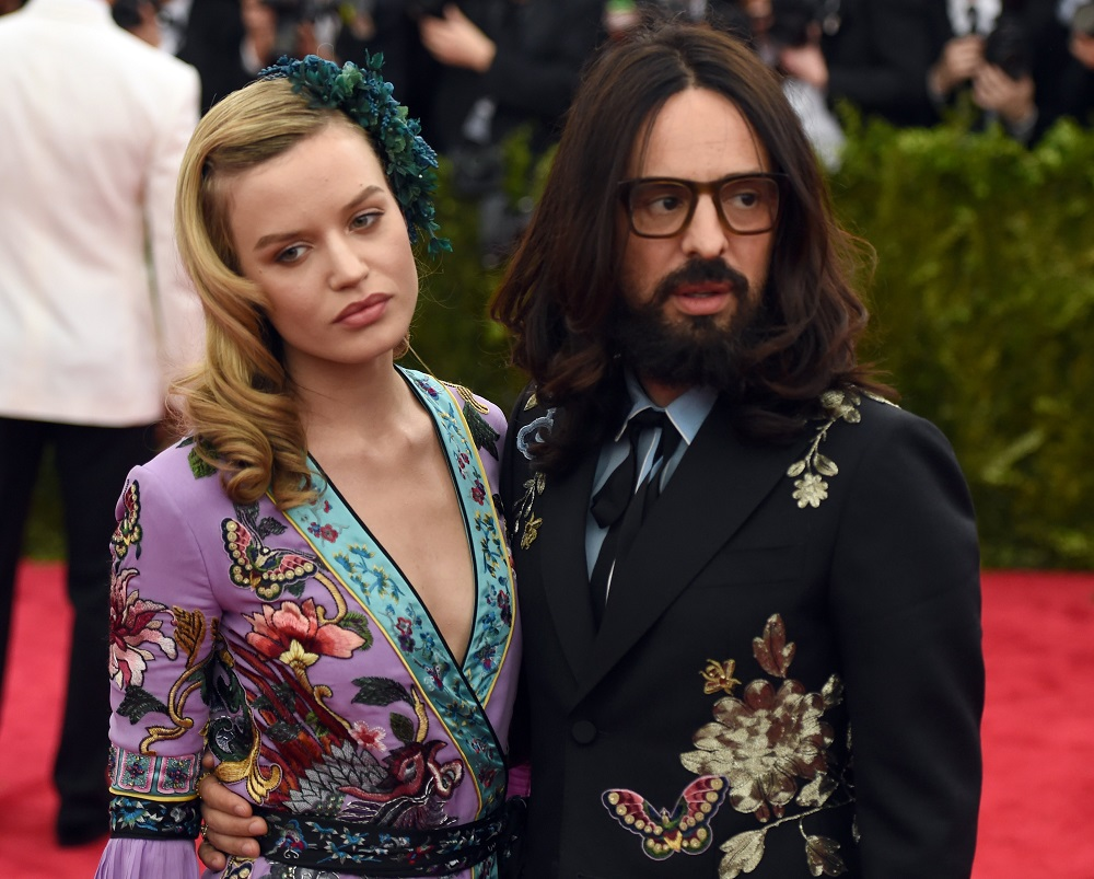 Georgia May Jagger and Alessandro Michele. — AFP pic