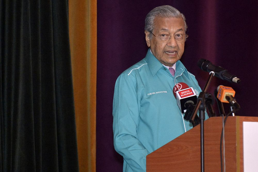Prime Minister Tun Dr Mahathir Mohamad said that turnarounds under his governance were only done if necessary. ― Picture by Mukhriz Hazim