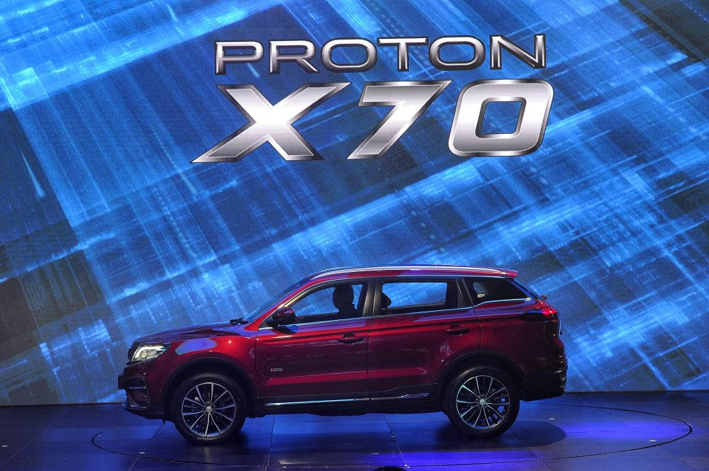 Proton said the X70 also remained the best-selling SUV in the country. — Picture by Shafwan Zaidon