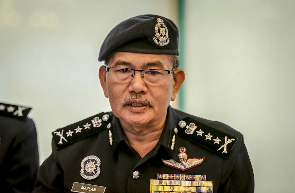 According to a report, KL police chief Comm Datuk Seri Mazlan Lazim said his agency also recommended that authorities further limit how many workers may be at the wholesale market. — Picture by Firdaus Latif