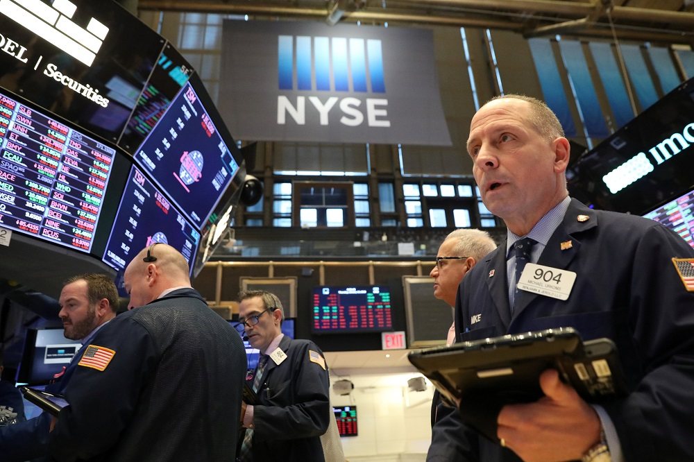 On Wall Street, The Dow Jones Industrial Average fell 8.22 points, or 0.03 per cent, to 31,060.47, the S&P 500 gained 8.65 points, or 0.23 per cent, to 3,809.84 and the Nasdaq Composite added 56.52 points, or 0.43 per cent, to 13,128.95. — Reuters pic