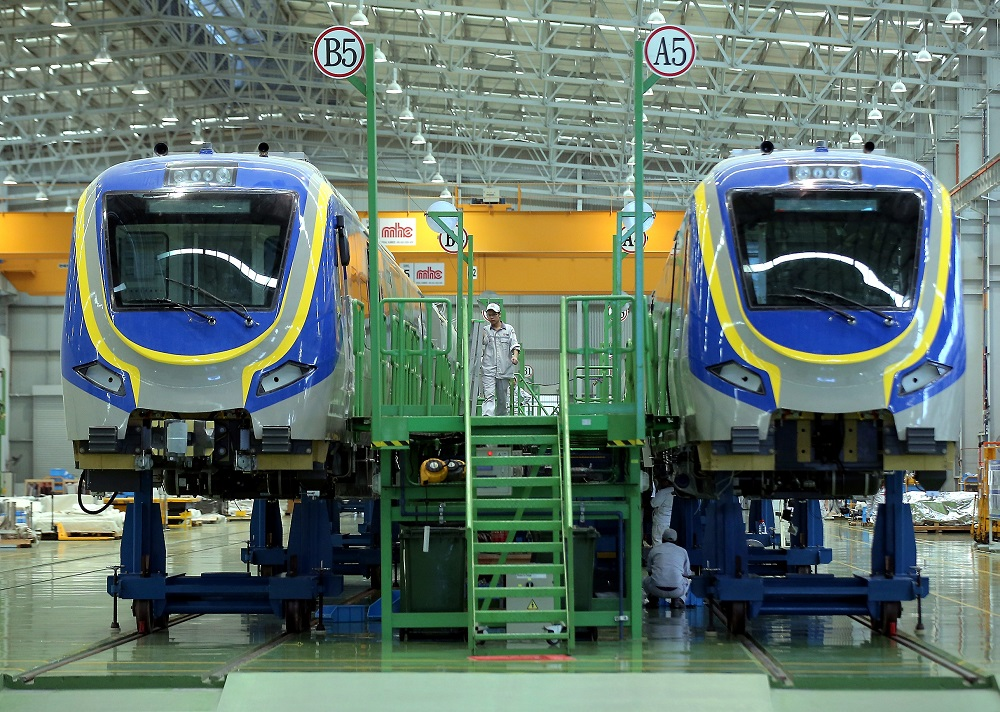 About 200 train cars are manufactured each year at China Railway Rolling Stock Corp's Rolling Stock Centre in Batu Gajah. — Picture by Farhan Najib