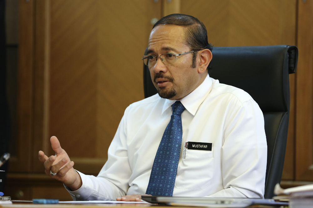 National Anti-Financial Crime Centre CEO Datuk Seri Mustafar Ali says action will be taken without fear or favour against those who commit financial crimes. — Picture by Yusof Mat Isa