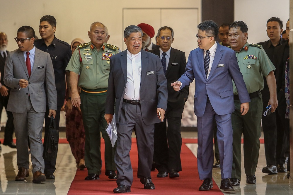 Year 2019 witnessed the ministry, led by Mohamad Sabu (centre), on December creating new history after it tabled in Parliament a White Paper outlining strategic directions and planning in national defence which was passed by the majority. — Picture by Hari Anggara