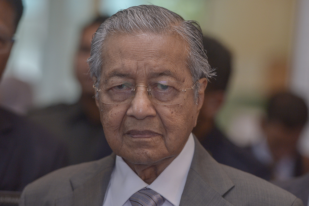 Dr Mahathir said Pakatan Harapan has made its choice on the vacancy but has yet to receive confirmation from the royalty. — Picture by Mukhriz Hazim
