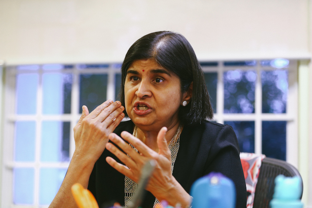 Datuk Ambiga Sreenevasan says the law gives equal protection to everyone, even the LGBT community which is marginalised and vulnerable due to the discrimination and hate directed against them here. — Picture by Ahmad Zamzahuri