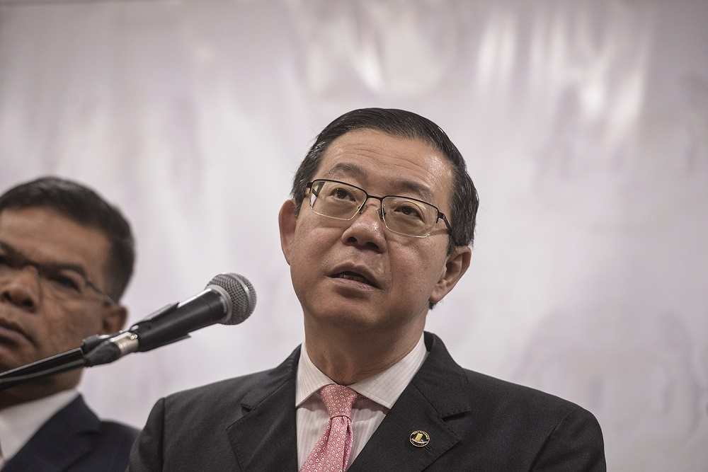 Lim said Malaysia supported China's One Belt One Road initiative and did not see it as a China's attempt to dominate other countries. — Picture by Shafwan Zaidon