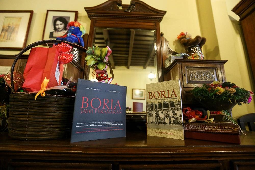 Copies of Professor Datuk Wazir Jahan Karim's book 'Boria' are seen at Jawi House, George Town January 28, 2019. — Picture Sayuti Zainudin