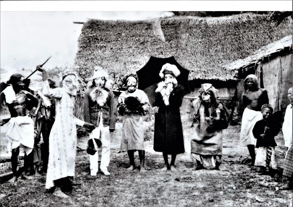 Late 19th century 'boria' performers. — Picture courtesy of Yusof Azmi Merican