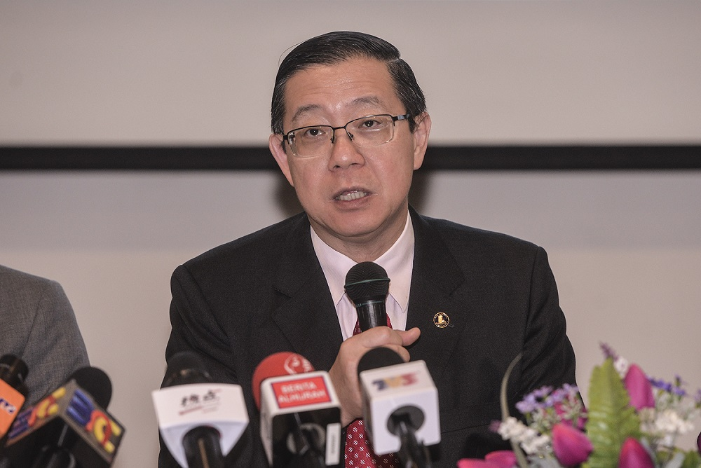 Finance Minister Lim Guan Eng said that the Ministry of Finance as well as the Transport Ministry and both the Penang and Kedah state governments are all in the dark about the details reported in The Star article. — Picture by Shafwan Zaidon