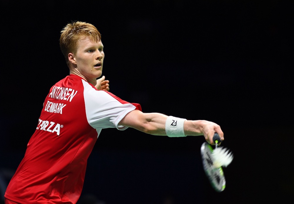 Defending champion Anders Antonsen today breezed through to the Indonesia Masters final. — AFP pic