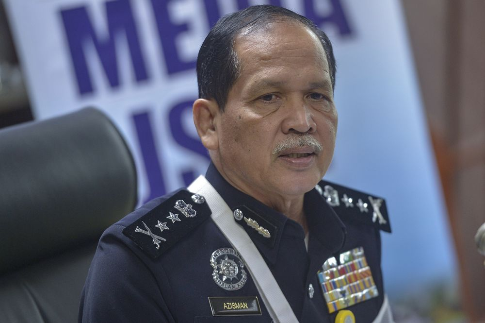 Bukit Aman Department of Investigation and Traffic Enforcement director DCP Datuk Azisman Alias speaks during a press conference in Kuala Lumpur January 30, 2019. ― Picture by Mukhriz Hazim