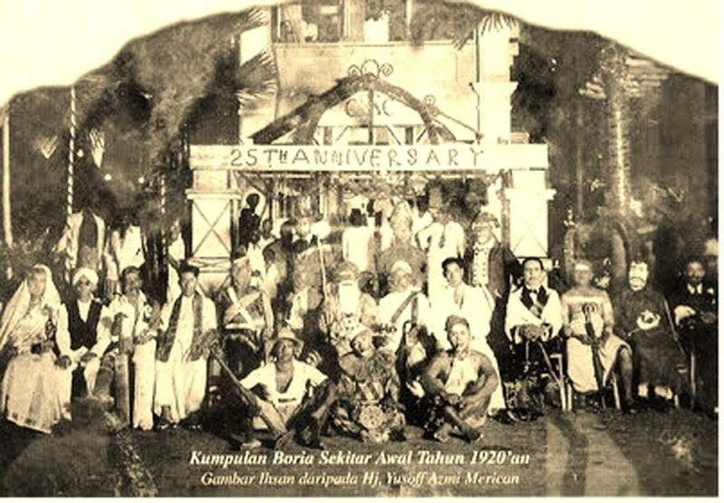 'Boria' theatre in the 1920s was very different from what it is today. — Picture courtesy of Yusof Azmi Merican