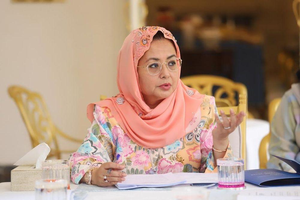 File picture of Permaisuri of Johor Raja Zarith Sofiah Sultan Idris Shah. — Picture courtesy of the Royal Press Office