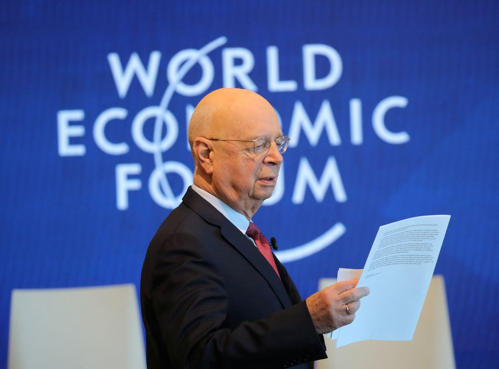 Founder and Executive Chairman of the World Economic Forum (WEF) Klaus Schwab attends a news conference ahead of the Davos annual meeting in Cologny near Geneva, Switzerland January 15, 2019. — Reuters pic