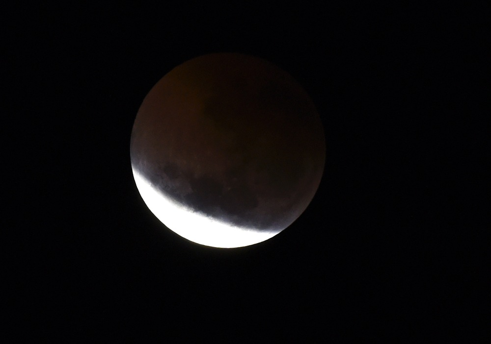 A total lunar eclipse seen in Perth on July 28, 2018. — AFP pic