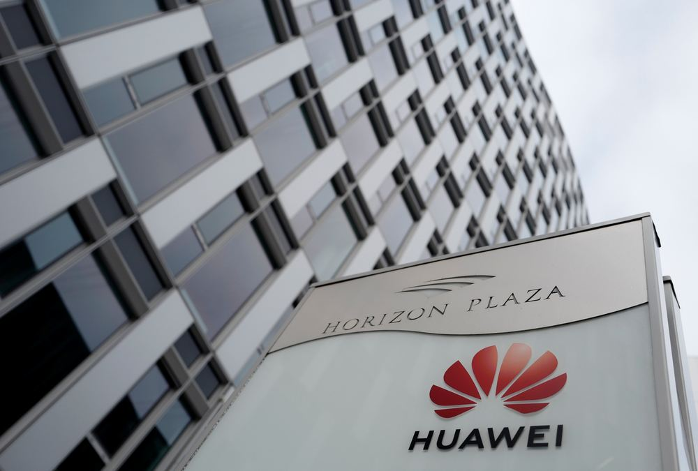 Logo of Huawei is seen in front of the local offices of Huawei in Warsaw January 11, 2019. — Reuters pic