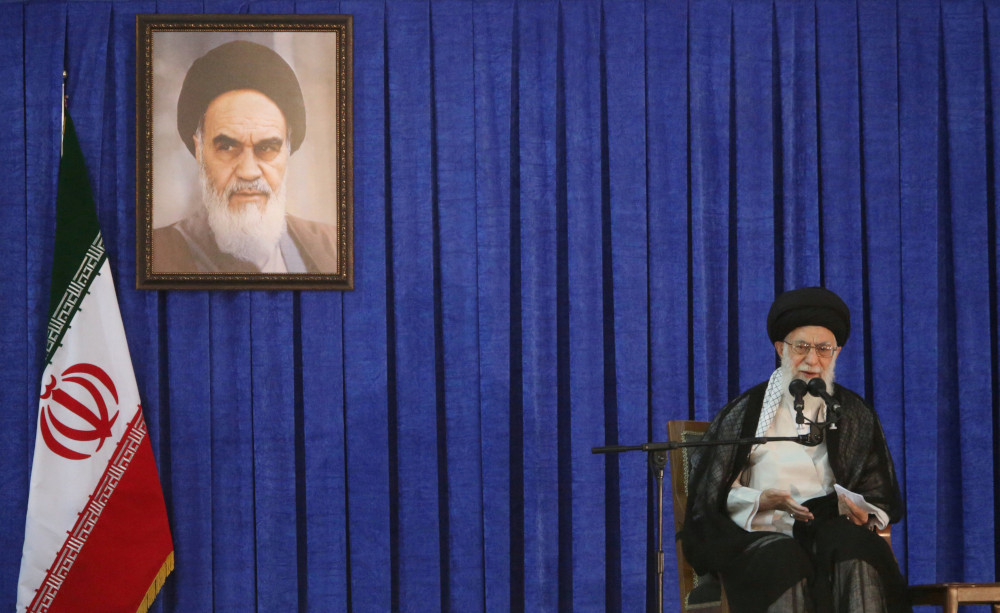 Iran's Supreme Leader Ayatollah Ali Khamenei delivers a speech during a ceremony marking the death anniversary of the founder of the Islamic Republic Ayatollah Ruhollah Khomeini, in Tehran June 4, 2017. — Tima handout pic via Reuters