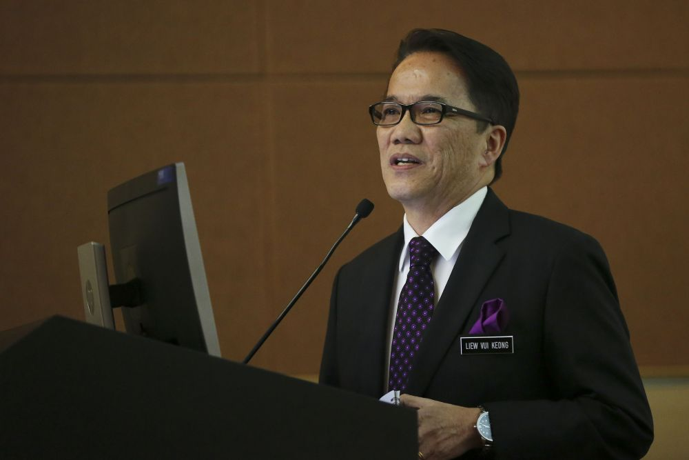 Minister in the Prime Minister's Department Datuk Liew Vui Keong today said that a Parliamentary Select Committee (PSC) on the implementation of the Malaysia Agreement 1963 (MA63) will be established. ― Picture by Yusof Mat Isa