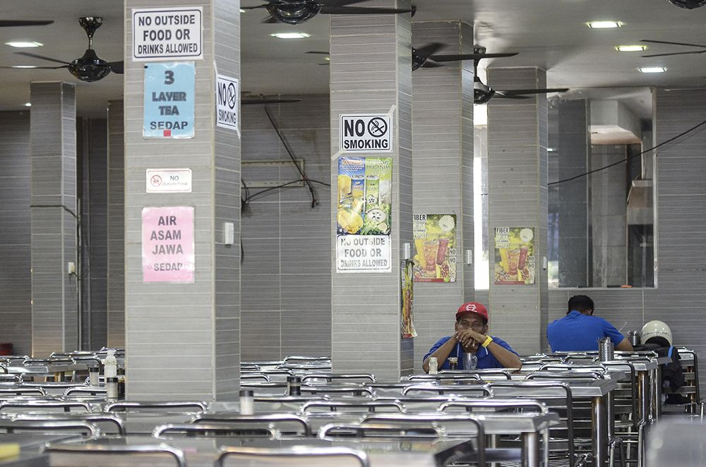 A no-smoking sign is seen at an eatery in Petaling Jaya January 1, 2019. ― Picture by Miera Zulyana