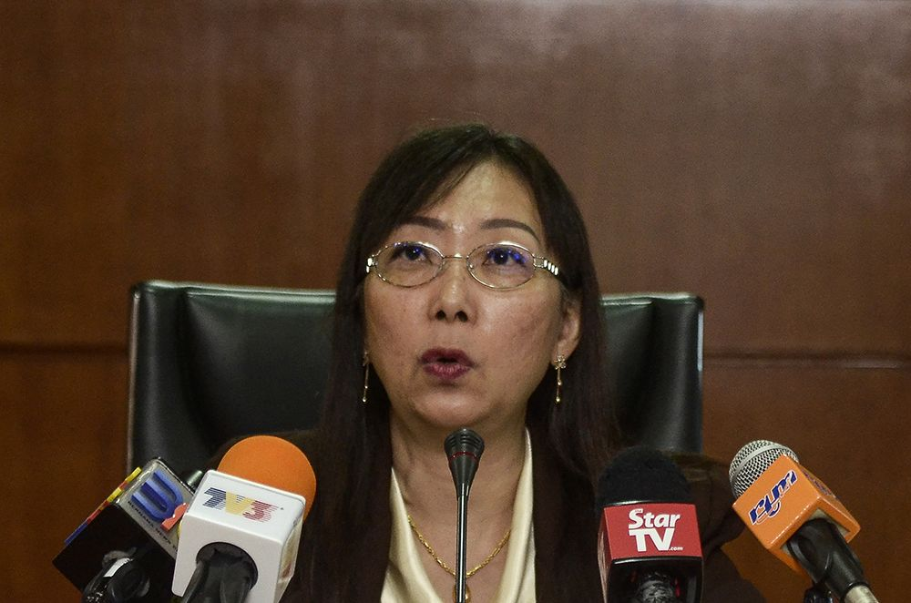 Teresa Kok speaks to reporters during a press conference at the Ministry of Primary Industries January 3, 2019. ― Picture by Miera Zulyana