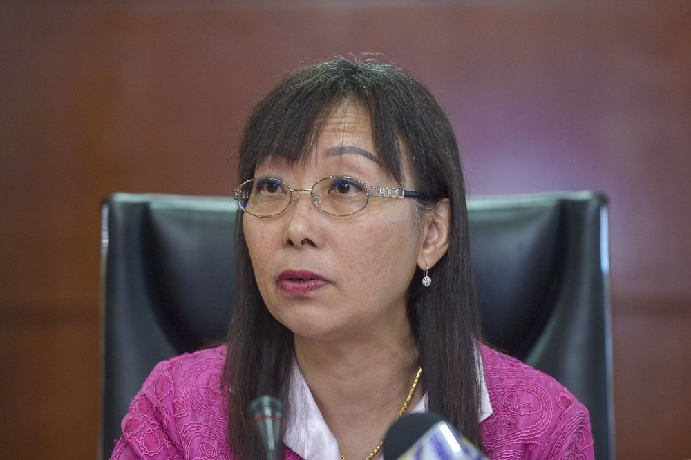 Primary Industries Minister Teresa Kok speaks during a press conference in Putrajaya January 28, 2019. — Picture by Mukhriz Hazim