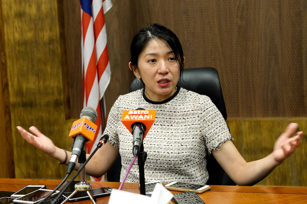 Minister of Energy, Science, Technology, Environment and Climate Change Yeo Bee Yin today reiterated that Malaysia would not be a dumping ground for the world's plastic waste. — Picture courtesy of the Sabah Chief Minister's Department