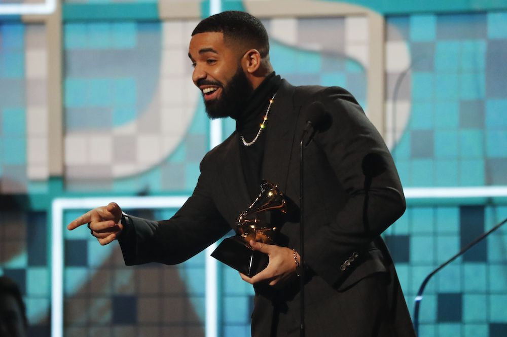 Drake wins Best Rap Song for 'God's Plan' at the 61st Grammy Awards in Los Angeles February 11, 2019. — Reuters pic