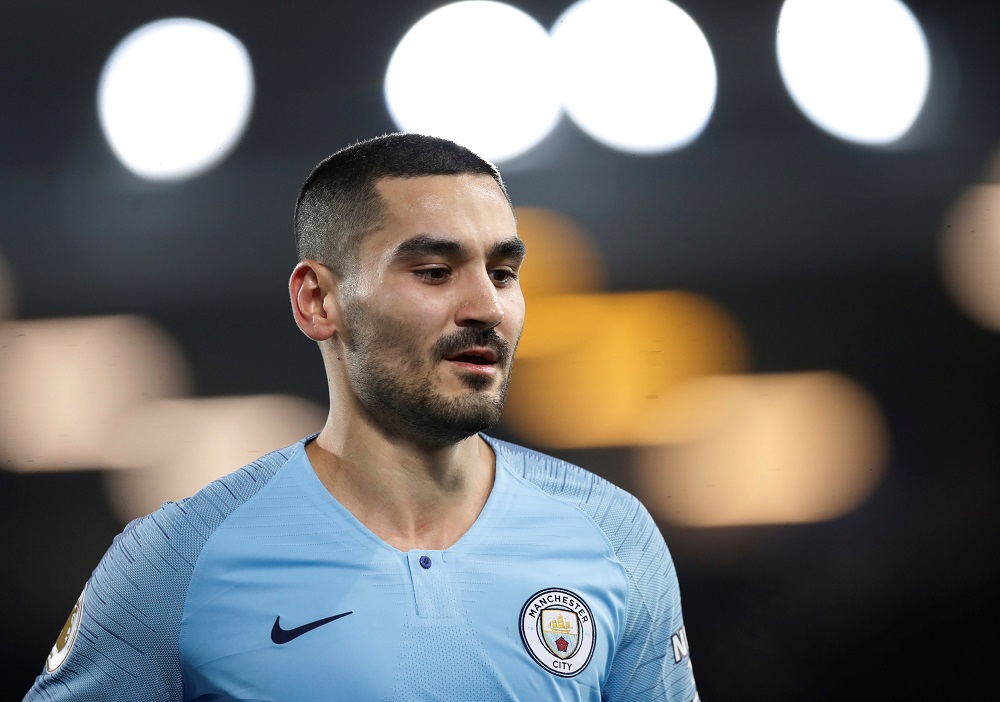 Manchester City's Ilkay Gundogan during the match against Everton at Goodison Park in Liverpool February 6, 2019. — Action Images via Reuters