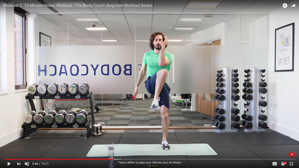 The Body Coach Beginner Workout Series on YouTube. — YouTube screencap