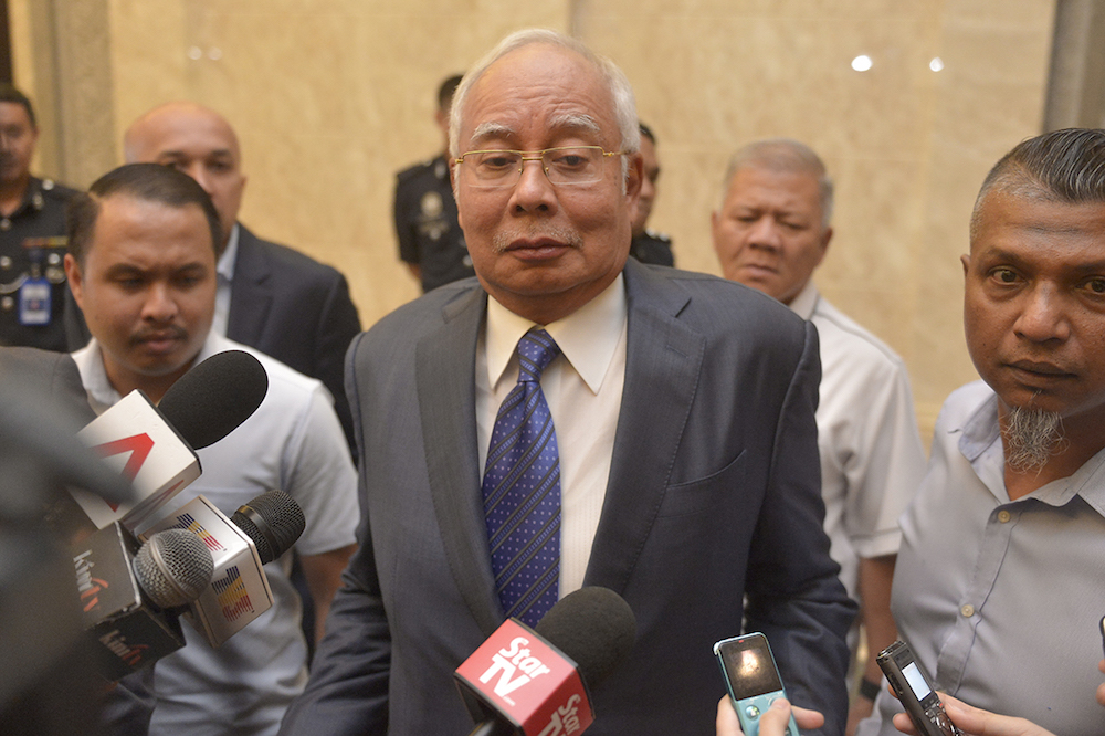 Datuk Seri Najib Razak is one of the prominent individuals facing cases in court, following MACC investigations such as over the 1MDB scandal. — Picture by Mukhriz Hazim