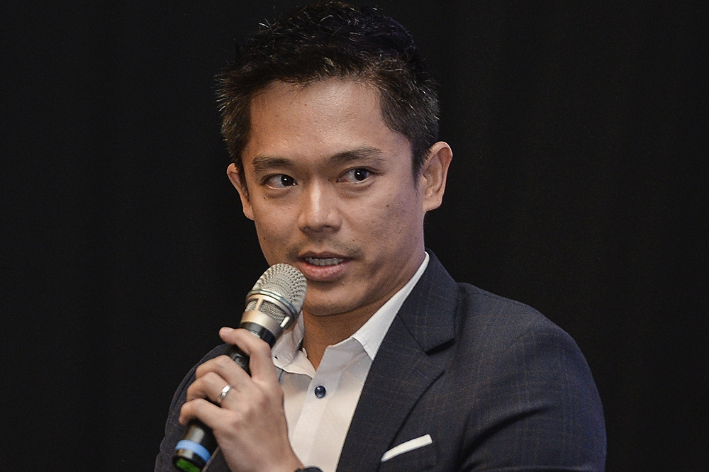 Finas member Adrian Teh speaks during Kuala Lumpur Digital Content Anti-Piracy Summit Forum Session in Putrajaya February 14, 2019.
