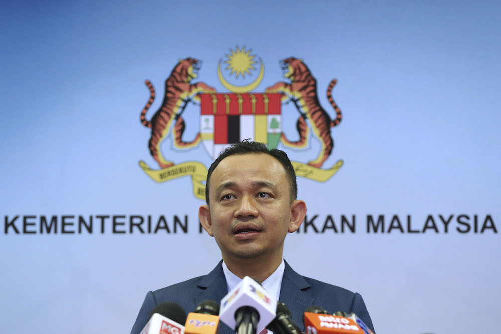 File photo of Education Minister Maszlee Malik speaking during a press conference at its ministry in Putrajaya February 14, 2019. — Picture by Yusof Mat Isa
