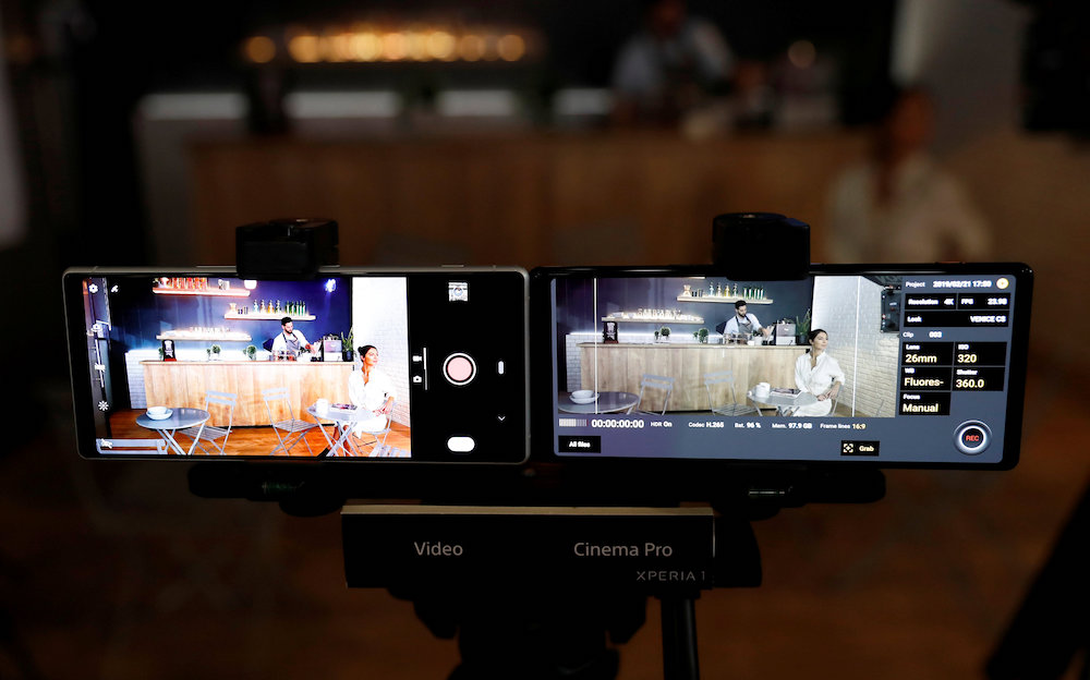 The Sony Xperia1 was only recently unveiled at the Mobile World Congress in Barcelona. — Reuters pic