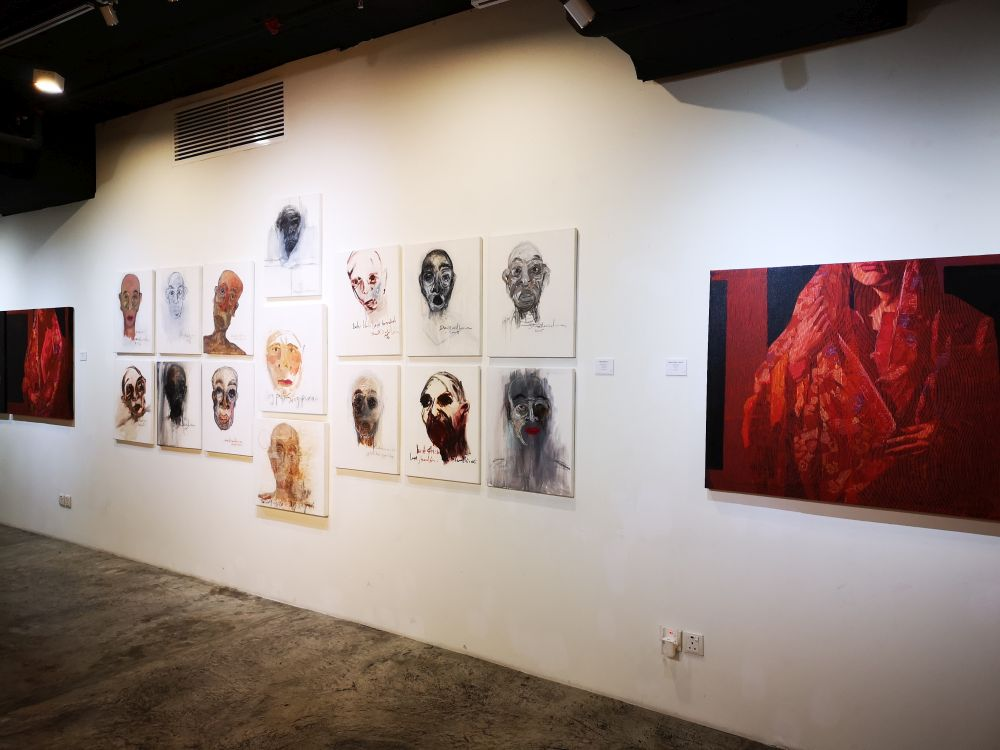 Some of the artworks on display at ARTCUBE as part of the Affect Nusantara contemporary art exhibition. — Pictures courtesy of ARTCUBE