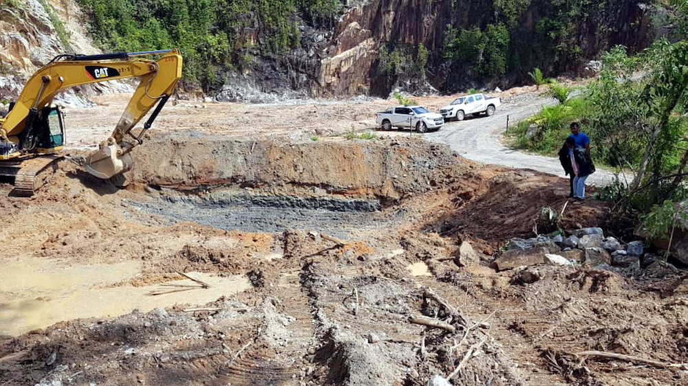 Work to replant the encroached area of Kledang Hill has begun. Landowner MB Incorporated (MB Inc) said MB Inc had obtained the permission of the Land and Mines Department director to replant the area. — Picture courtesy of MB Inc