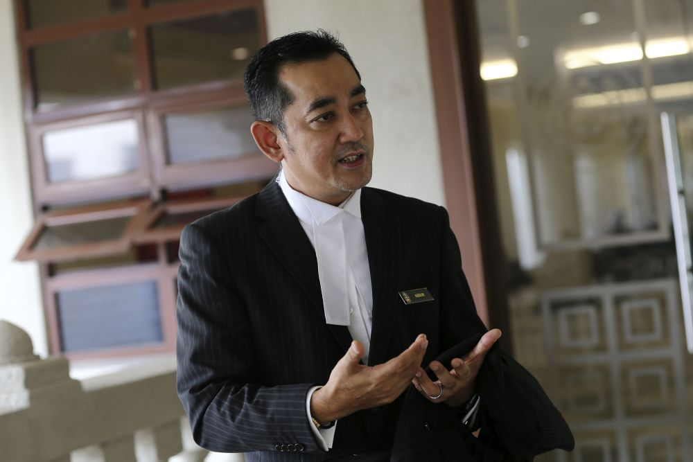 Lawyer Ahmad Akram Gharib is pictured at the Kuala Lumpur High Court February 22, 2019. ― Picture by Yusof Mat Isa