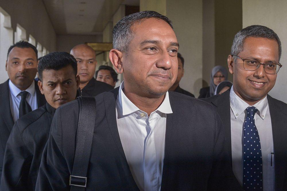 Umno lawyer Datuk Mohd Hafarizam Harun is pictured leaving the Kuala Lumpur Court Complex February 21, 2019. — Picture by Mukhriz Hazim