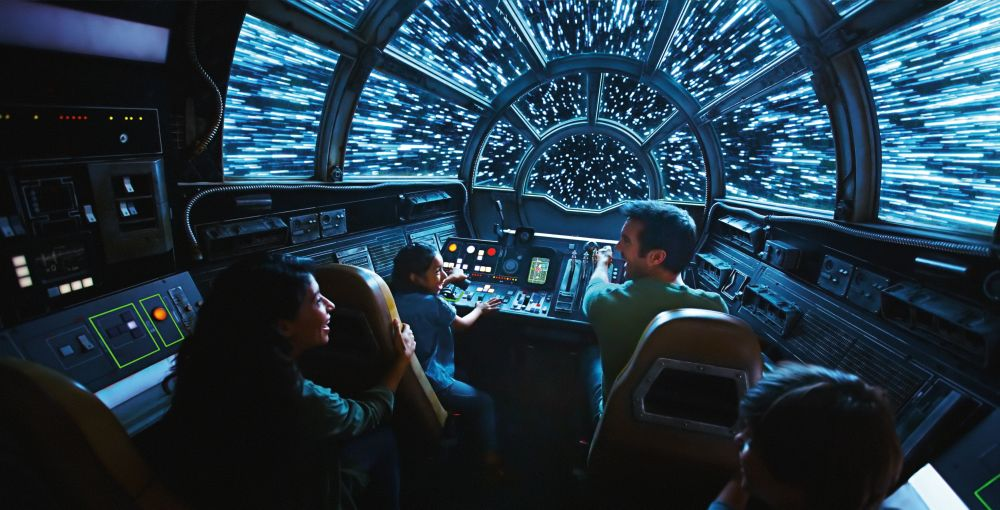 The Millennium Falcon Smugglers Run at Star Wars: Galaxy's Edge is designed to make visitors feel like they are flying Han Solo's famous spaceship. — Reuters pic