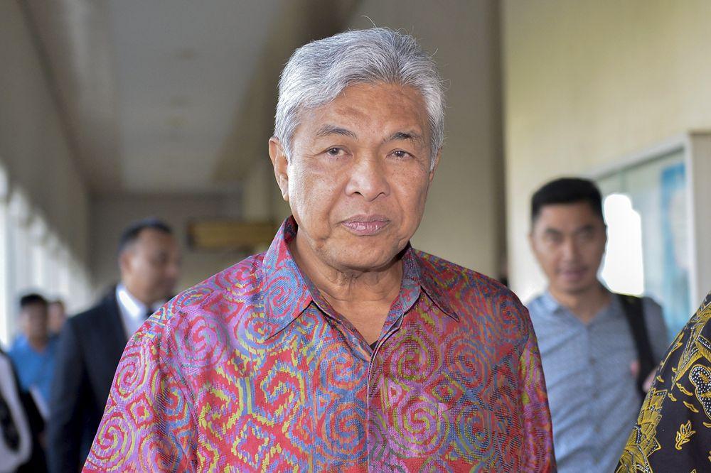 Datuk Seri Ahmad Zahid Hamidi is pictured leaving the Kuala Lumpur Court Complex February 21, 2019. — Picture by Mukhriz Hazim