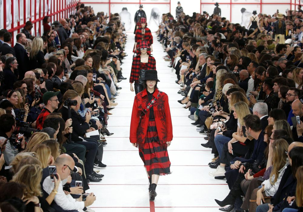 File photo of models presenting creations by designer Maria Grazia Chiuri as part of her Fall/Winter 2019-2020 women's ready-to-wear collection show for fashion house Dior during Paris Fashion Week in Paris, France, February 26, 2019. — Reuterspic