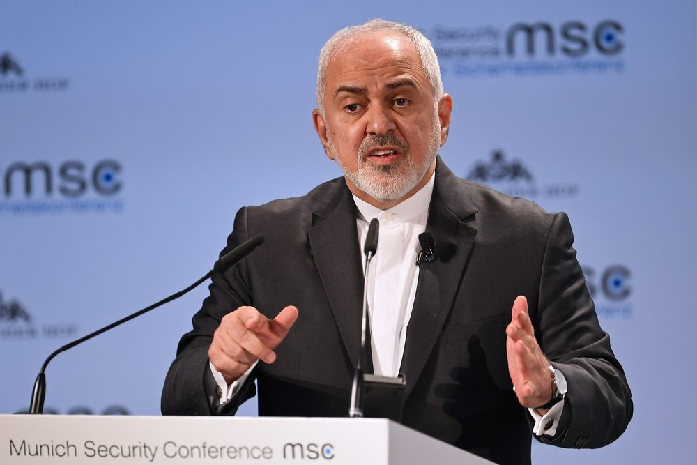 Iran's Foreign Minister Mohammad Javad Zarif speaks at the annual Munich Security Conference in Munich, Germany February 17, 2019. — Reuters pic